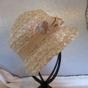 Vintage raffia straw hat